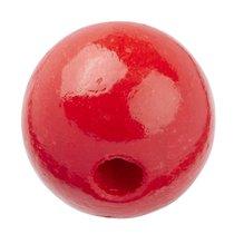 Schnulli holzlinse 10 x 5 mm rund rot 15 stueck