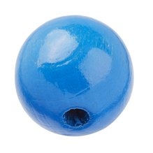 Schnulli holzlinse 10 x 5 mm rund blau 15 stueck