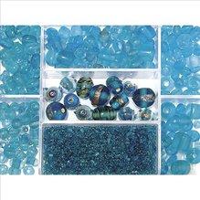 Glasperlen-Box, ind.türkis, 115g, versch. Farben (EUR 8,69/100 g)