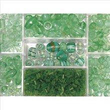 Glasperlen-Box, jade, 115g, versch. Farben + Grö (EUR 8,69/100 g)