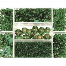 Glasperlen-Box, smaragd, 115g, versch. Farben + Gr&ou (EUR 8,69/100 g)