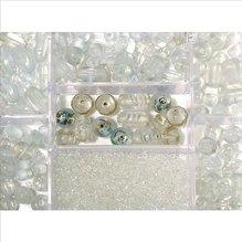 Glasperlen-Box, bergkristall, 115g, versch. Farben +  (EUR 8,69/100 g)