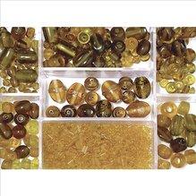 Glasperlen-Box, topas, 115g, versch. Farben + Grö (EUR 8,69/100 g)