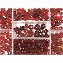 Glasperlen-Box, rubin, 115g, versch. Farben + Grö (EUR 8,69/100 g)