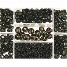 Glasperlen-Box, schwarz, 115g, versch. Farben + Gr&ou (EUR 8,69/100 g)