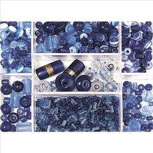 Glasperlen-Box, saphir, 115g, versch. Farben + Gr&oum (EUR 8,69/100 g)