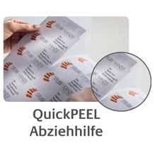 Avery Zweckform Etikett QuickPEEL J8563-25 transparent 350 St./Pack.