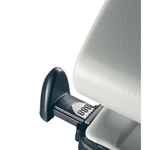 Leitz Doppellocher 51320085 max. 40Bl. Metall grau
