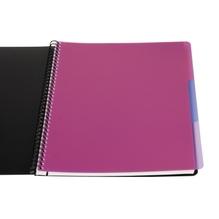 Soennecken Officebook 2350 DIN A4+ 90g 80Bl. 4fbg. Rand 3Register lin.