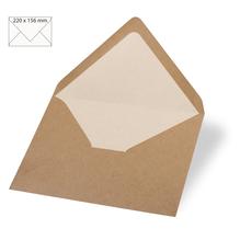 Kuvert C6, kraft, FSC Recycled Credit, 156x110mm, 90g/m2, Beutel 5Stück, kraft