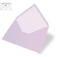 Kuvert B6, uni, FSC Mix Credit, 180x120mm, 90g/m2, Beutel 5Stück, flieder