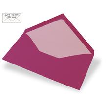 Kuvert DIN Lang, uni, FSC Mix Credit, 220x110mm, 90g/m2, Beutel 5Stück, red magma