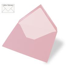 Kuvert für Karte A5, uni, FSC Mix Credit, 220x156mm, 90g/m2, Beutel 5Stück, rosé