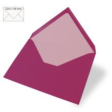 Kuvert für Karte A5, uni, FSC Mix Credit, 220x156mm, 90g/m2, Beutel 5Stück, red magma