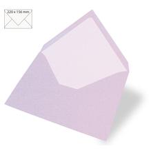 Kuvert für Karte A5, uni, FSC Mix Credit, 220x156mm, 90g/m2, Beutel 5Stück, flieder
