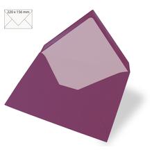 Kuvert für Karte A5, uni, FSC Mix Credit, 220x156mm, 90g/m2, Beutel 5Stück, purple velvet