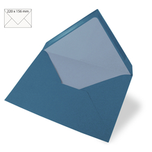 Kuvert für Karte A5, uni, FSC Mix Credit, 220x156mm, 90g/m2, Beutel 5Stück, d.türkis