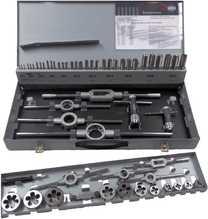 Gewindeschneider-Sortiment in Stahlblechkassette in Handwerks- und Industriequalität, 56-teilig, Metrisches ISO... Satz Metrisch: M 3 - M 20