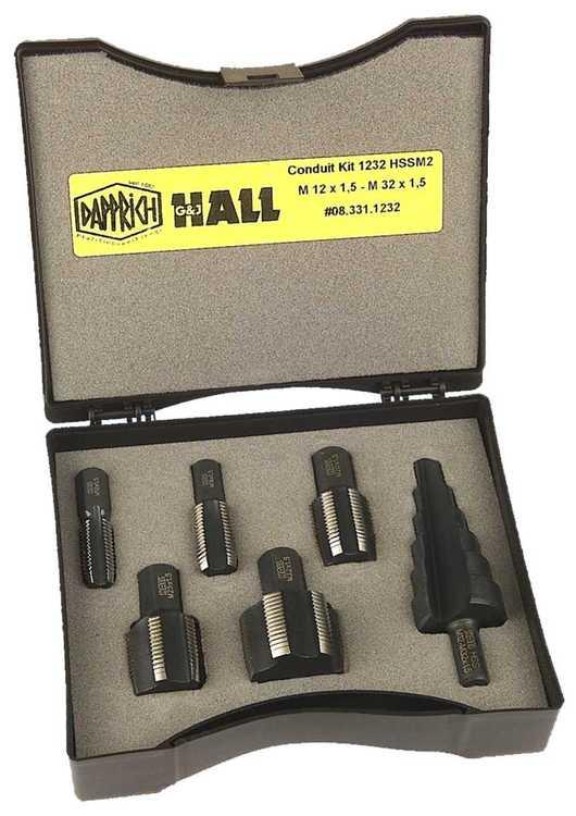 Satz Einschnitt Gewindebohrer Conduit-Werkzeuge für Kabelverschraubun... Satz M12 M16 M20 M25 M32x1,5 inkl. Stufenbohrer M12 M16 M20 M25 M32