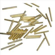 Glasstifte, 25 mm, mit Silbereinzug, gold, 10g (EUR 16,90/100 g)