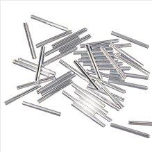 Glasstifte, 25 mm, mit Silbereinzug, silber, 10g (EUR 16,90/100 g)