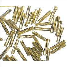 Glasstifte twistet, 12 mm, gold, mit Silbereinzug ,  (EUR 16,90/100 g)
