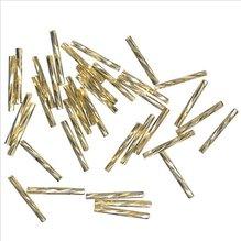 Glasstifte twistet, 20 mm, gold, mit Silbereinzug, 1 (EUR 16,90/100 g)