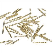 Glasstifte twistet, 25 mm, gold, mit Silbereinzug, 1 (EUR 16,90/100 g)
