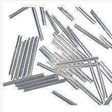 Glasstifte, 30 mm, mit Silbereinzug, silber, 10g (EUR 16,90/100 g)