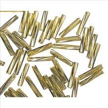 Glasstifte twistet, 12 mm, gold, mit Silbereinzug, 1 (EUR 12,07/100 g)