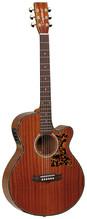 Tanglewood TW 47E Super Folk Akustik Gitarre, vollmassiv!