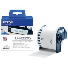 Brother Endlosetikettenrolle DK22205 62mmx30,48m weiß
