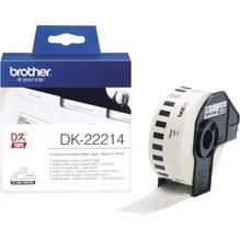 Brother Endlosetikettenrolle DK22214 12mmx30,48m Papier weiß