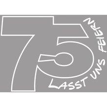 Holz Stempel '75-Lasst uns feiern', 5x7cm