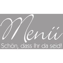 Holz Stempel 'Menü-Schön...', 4x7cm