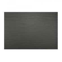 Leder-Tischset 'nero' (schwarz)