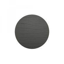Leder-Untersetzer 'nero', rund, 20cm  (schwarz)
