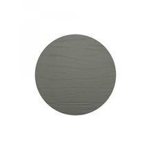 Leder-Untersetzer 'grafit', rund, 20cm  (dunkelgrau)