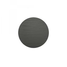 Leder-Untersetzer 'nero', rund, 10cm  (schwarz)