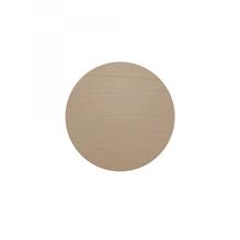 Leder-Untersetzer 'taupe', rund, 10cm  (grau-braun)