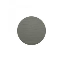 Leder-Untersetzer 'grafit', rund, 10cm  (dunkelgrau)