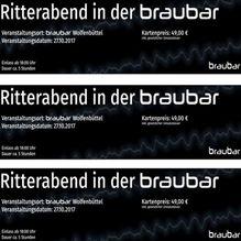 Ritterabend in der braubar - 27.10.2017 - Ticket