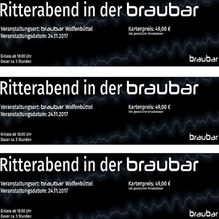 Ritterabend in der braubar - 24.11.2017 - Ticket