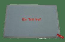 Dreckstückchen de luxe mit Aufdruck 'Ein Tritt frei!'