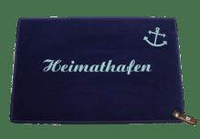 Dreckstückchen de luxe mit Aufdruck 'Heimathafen'