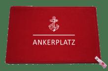 Dreckstückchen de luxe mit Aufdruck 'Ankerplatz'