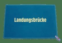 Dreckstückchen de luxe mit Aufdruck 'Landungsbrücke'