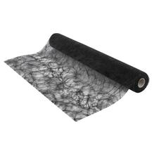 Faserseide: Modern, 60cm, Rolle 25m, schwarz