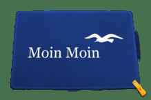 Dreckstückchen de luxe mit Aufdruck 'Moin Moin mit Möwe'