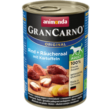 Gran Carno Rind, Räucheraal mit Kartoffeln